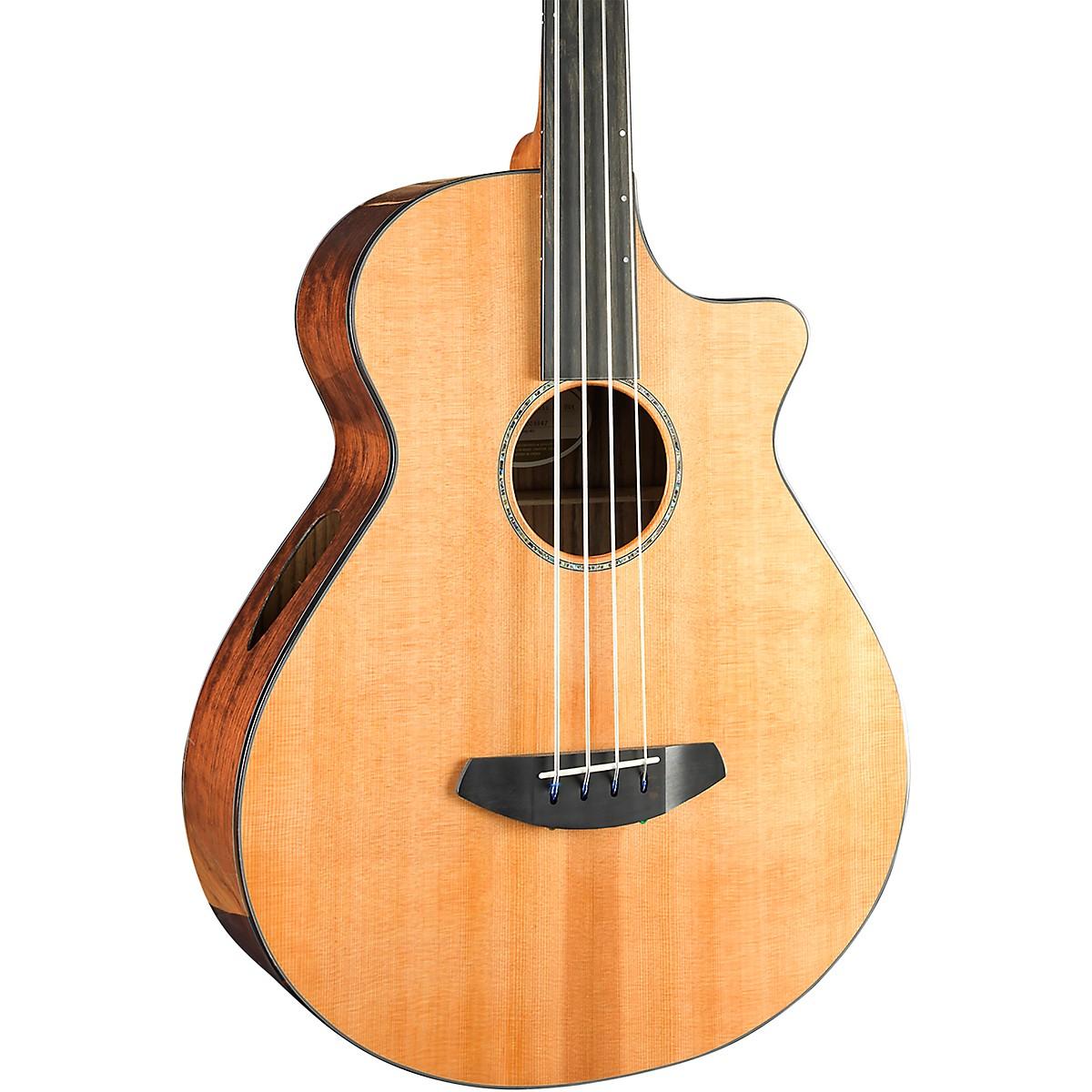 Breedlove Solo Jumbo Fretless Cutaway CE Acoustic-Electric Bass Guitar