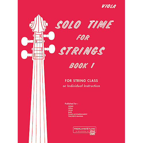 Alfred Solo Time for Strings Book 1 Viola