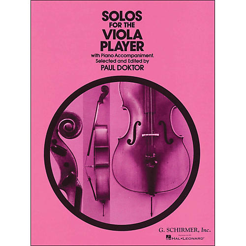 G. Schirmer Solos for Viola Player Piano By Doktor