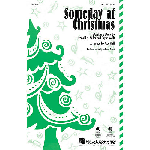 Hal Leonard Someday at Christmas SATB by Stevie Wonder arranged by Mac Huff