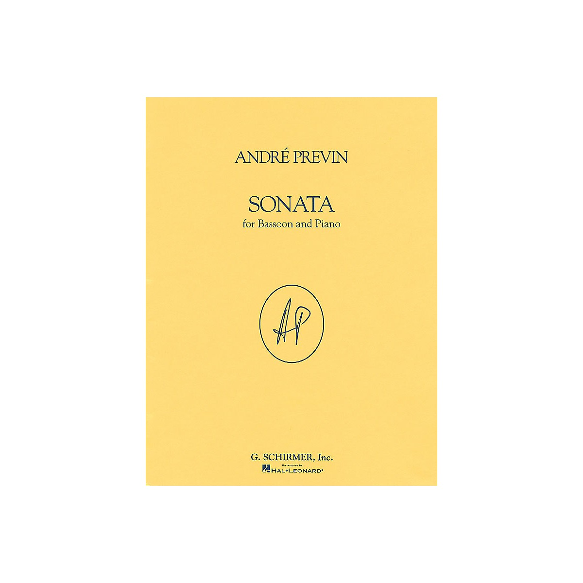 G. Schirmer Sonata (Bassoon with Piano Accompaniment) Woodwind Series by André Previn