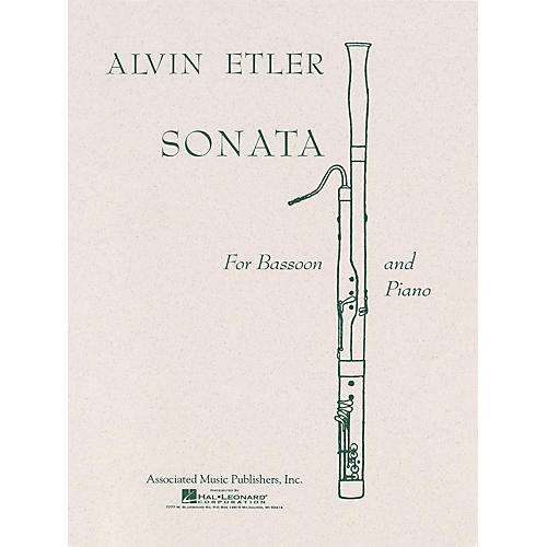 Associated Sonata (Bassoon with Piano Accompaniment) Woodwind Solo Series by Alvin Etler