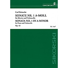 Sikorski Sonata No. 1 in A minor, Op. 42 (Piano and Violoncello) String Series Softcover Composed by Carl Reinecke