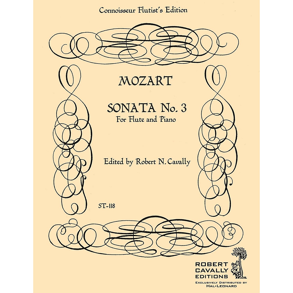 Cavally Editions Sonata No. 3 in A Major (Connoisseur Flutist's Edition) Robert Cavally Editions Series by Robert Cavally