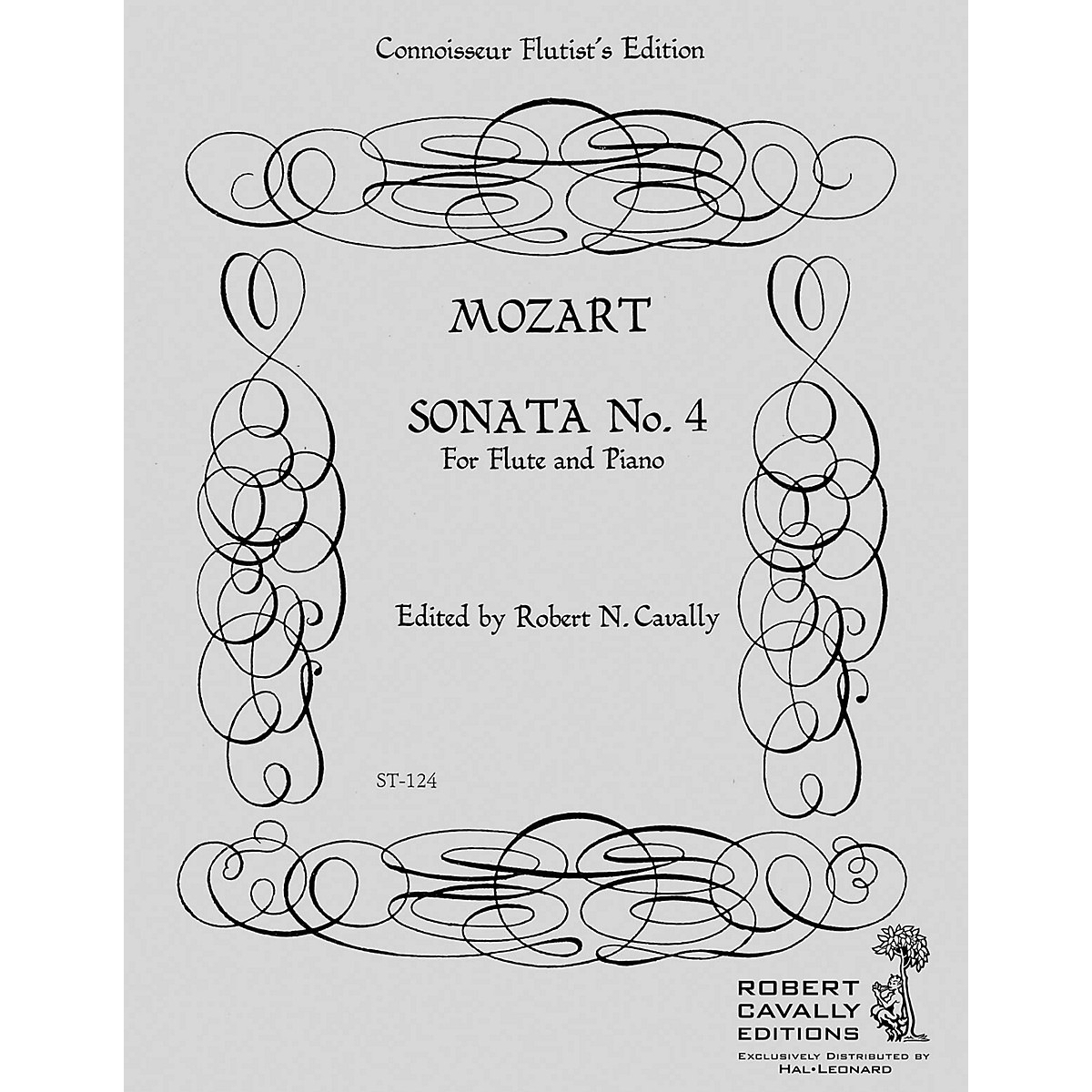 Cavally Editions Sonata No. 4 in F (Connoisseur Flutist's Edition) Robert Cavally Editions Series by Robert Cavally