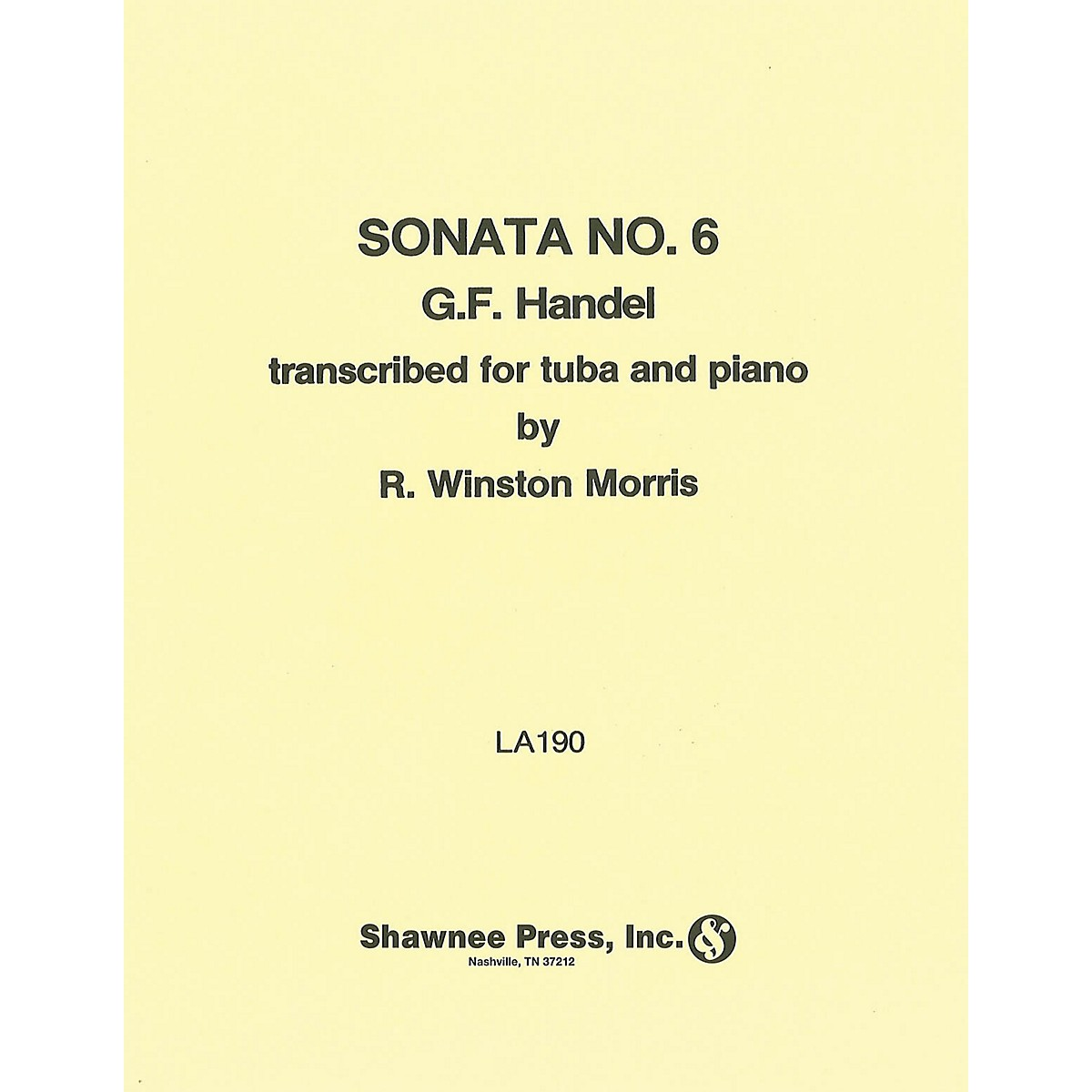 Shawnee Press Sonata No. 6 (for Tuba and Piano) Shawnee Press Series
