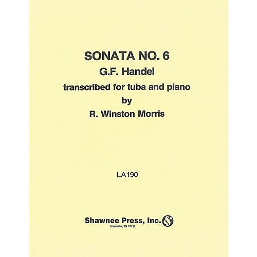 Shawnee Press Sonata No. 6 (for Tuba and Piano) Shawnee Press Series