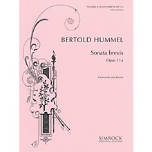 Simrock Sonata brevis, Op. 11a (Cello and Piano) Boosey & Hawkes Chamber Music Series Softcover