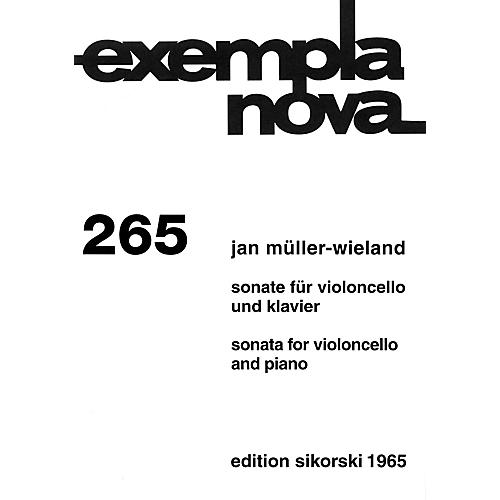 Sikorski Sonata for Cello and Piano String Series