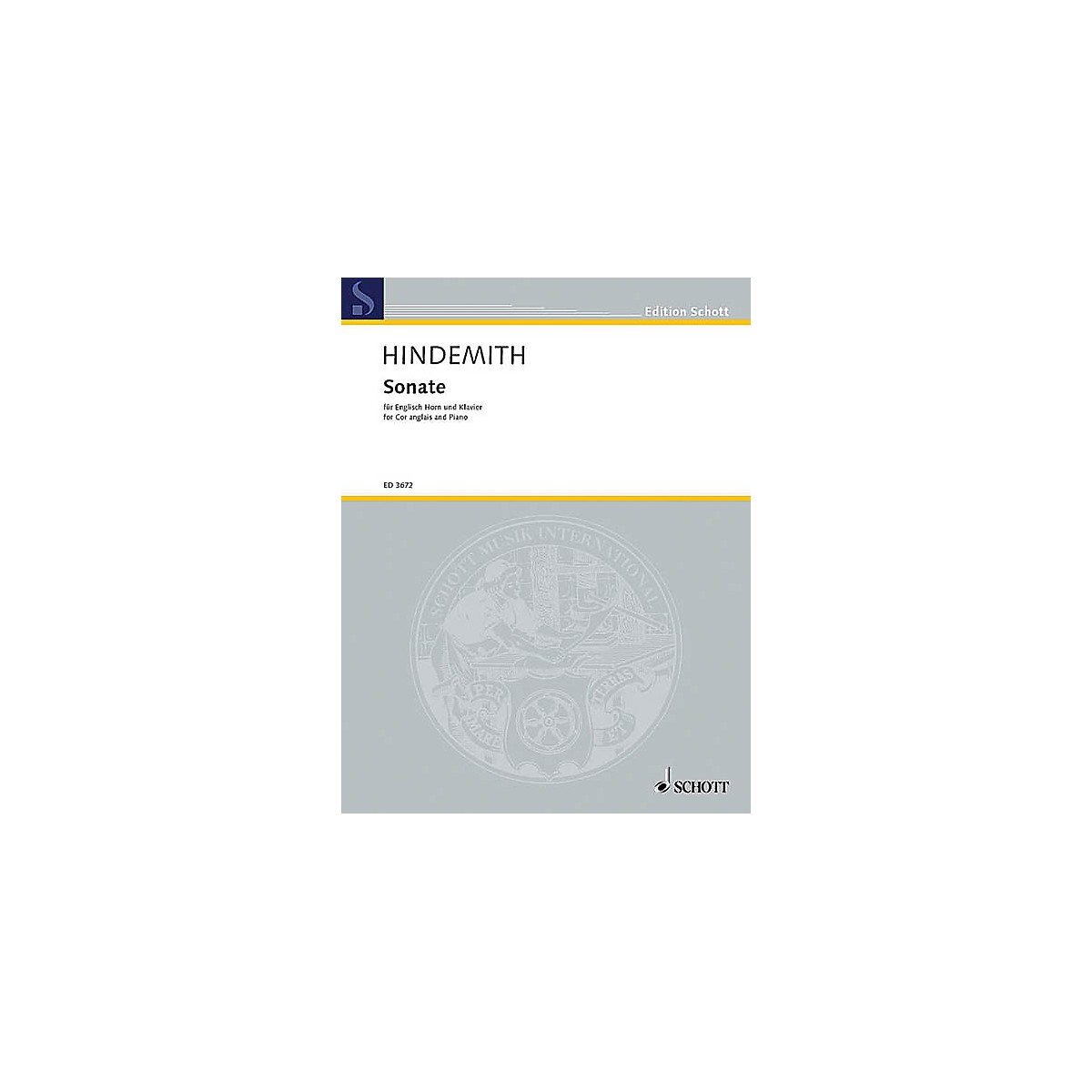 Schott Sonata for English Horn and Piano (English Horn and Piano) Schott Series