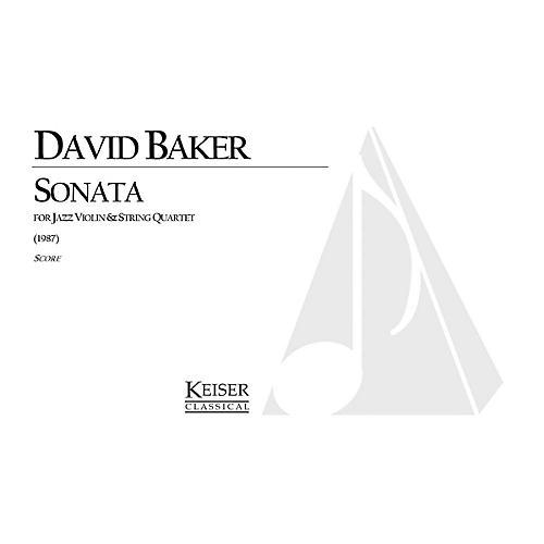 Lauren Keiser Music Publishing Sonata for Jazz Violin and String Quartet LKM Music Series Composed by David Baker
