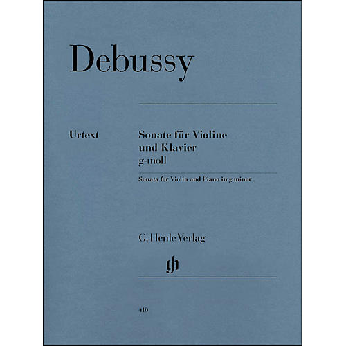 G. Henle Verlag Sonata for Violin And Piano In G Minor By Debussy