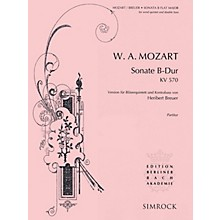 Simrock Sonata in B-Flat Major, K. 570 Composed by Wolfgang Amadeus Mozart Arranged by Heribert Breuer