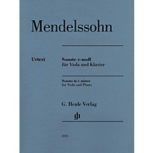 G. Henle Verlag Sonata in C Minor Henle Music Composed by Mendelssohn Bartholdy Edited by Ernst Herttrich