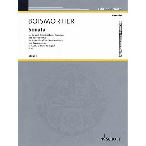Schott Sonata in D Major (For Descant Recorder and Basso Continuo) Schott Series