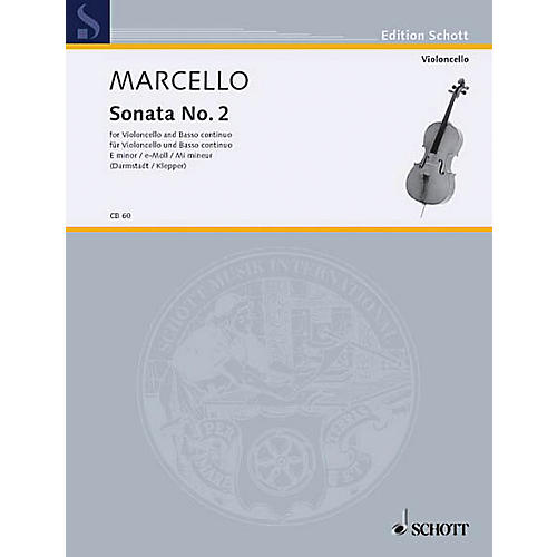 Schott Sonata in E minor (Cello and Piano) Schott Series