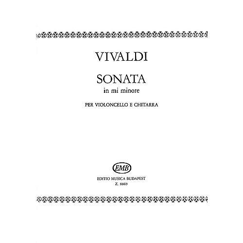 Editio Musica Budapest Sonata in E minor for Cello and Guitar RV40 EMB Series by Antonio Vivaldi