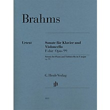 G. Henle Verlag Sonata in F Major Op. 99 for Piano and Violoncello Henle Music Folios Series Softcover by Johannes Brahms