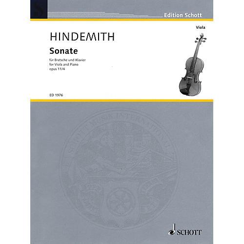 Schott Sonata in F, Op. 11, No. 4 (1919) (Viola and Piano) Schott Series Softcover