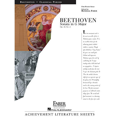 Faber Piano Adventures Sonata in G Major Op. 49, No. 2 Faber Piano Adventures Series Composed by Ludwig van Beethoven