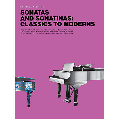 Music Sales Sonatas and Sonatinas: Classics to Moderns Music Sales America Series Softcover