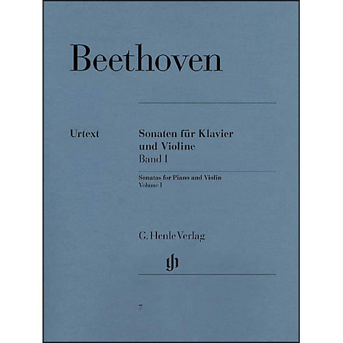 G. Henle Verlag Sonatas for Piano And Violin Volume I By Beethoven