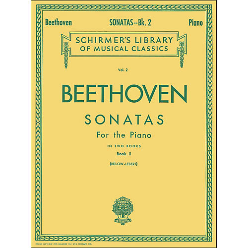G. Schirmer Sonatas for Piano Book 2 By Beethoven