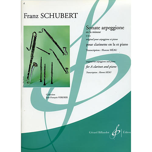 Theodore Presser Sonate Arpeggione En La Mineur D 821
