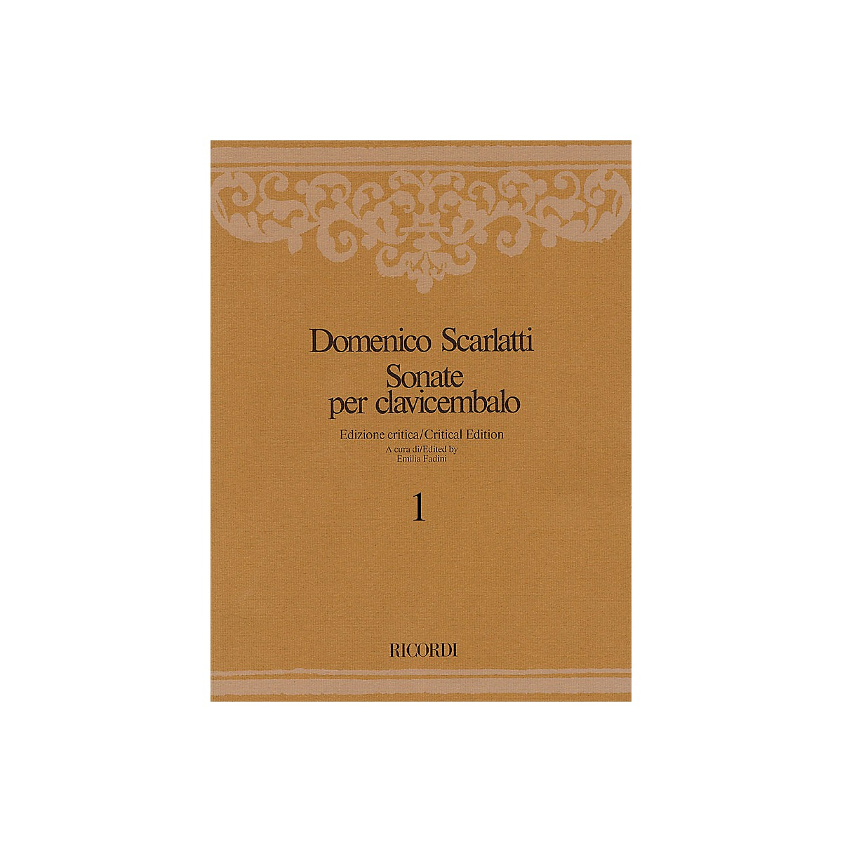Ricordi Sonate per Clavicembalo Volume 5 Critical Edition Piano Collection by Scarlatti Edited by Emilia Fadini