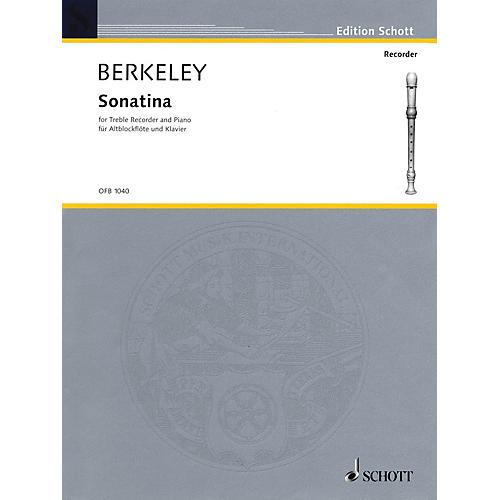 Schott Sonatina, Op. 13 (for Treble Recorder and Piano) Schott Series by Lennox Berkeley