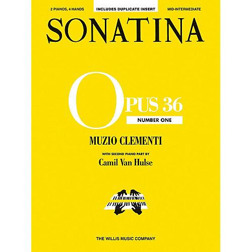 Willis Music Sonatina Op. 36, No. 1 (2 Pianos, 4 Hands/Mid-Inter Level) Willis Series by Muzio Clementi