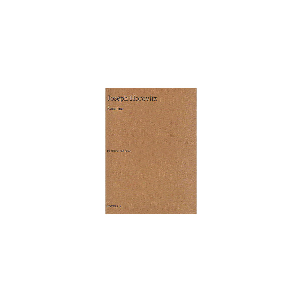 Novello Sonatina for Clarinet and Piano Music Sales America Series