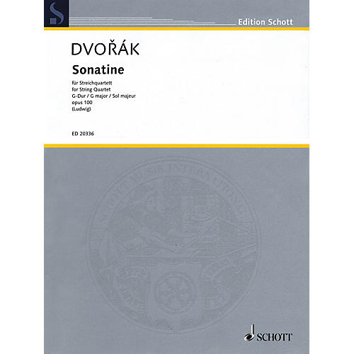Schott Music Sonatine (String Quartet Score and Parts) String Series Composed by Antonín Dvorák