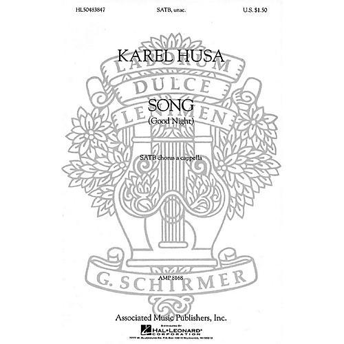 Associated Song (Good Night) (SATB (divisi) a cappella) SATB DV A Cappella composed by Karel Husa