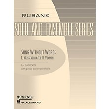 Rubank Publications Song Without Words, Op 226 (Bassoon Solo with Piano - Grade 2.5) Rubank Solo/Ensemble Sheet Series