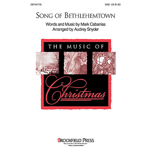 Brookfield Song of Bethlehemtown 2-Part Arranged by Audrey Snyder