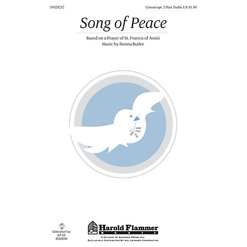 Shawnee Press Song of Peace Unison/2-Part Treble composed by Donna Butler