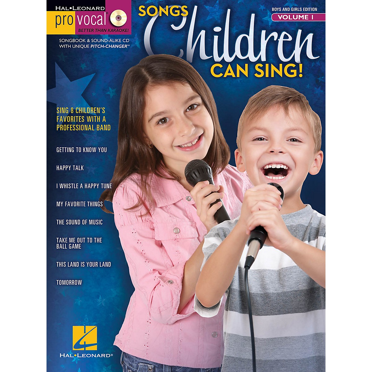 Hal Leonard Songs Children Can Sing! - Pro Vocal For Kids Vol. 1 (For Boys And Girls) Book/CD