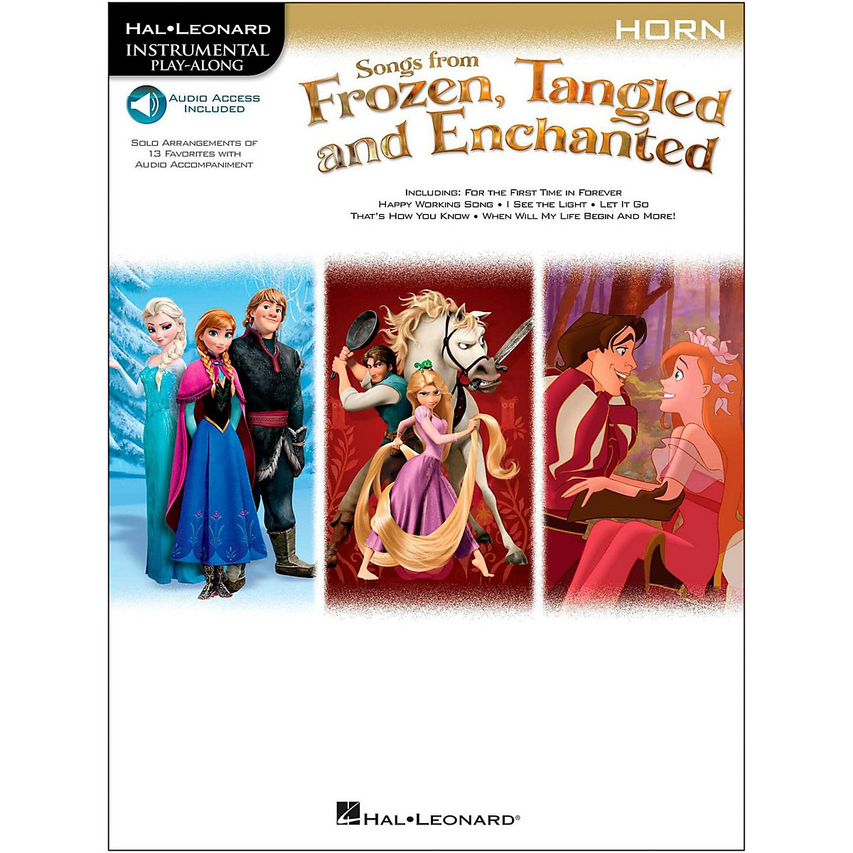 Hal Leonard Songs From Frozen, Tangled And Enchanted For French Horn - Instrumental Play-Along Book/Online Audio