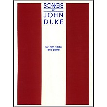 G. Schirmer Songs Of John Duke for High Voice
