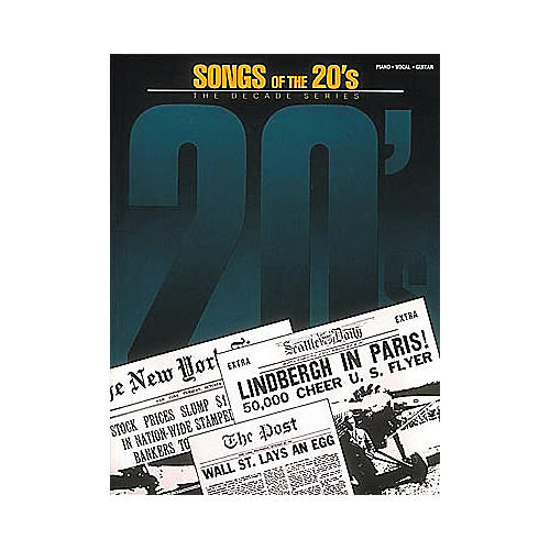 Hal Leonard Songs Of The 20's Piano/Vocal/Guitar Songbook