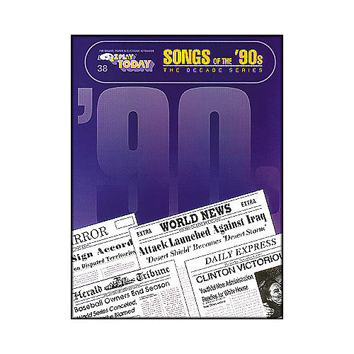 Hal Leonard Songs Of The Nineties 90's Decade Series E-Z Play 38