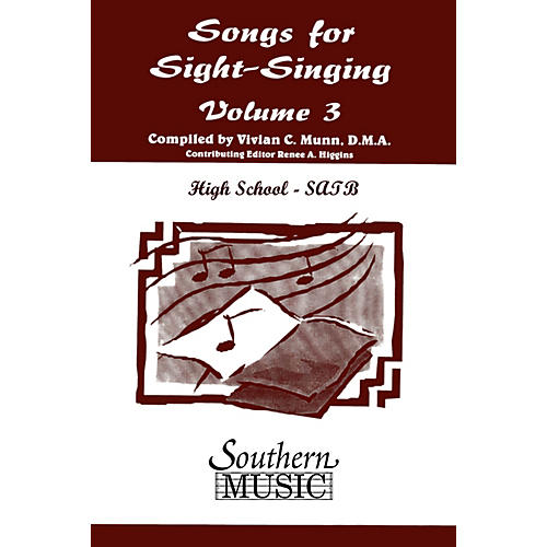 Southern Songs for Sight Singing - Volume 3 (High School Edition SATB Book) SATB Arranged by Mary Henry