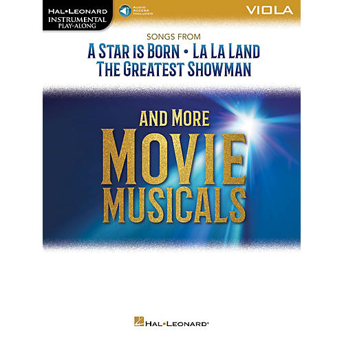 Hal Leonard Songs from A Star Is Born, La La Land and The Greatest Showman Instrumental Play-Along for Viola Book/Audio Online