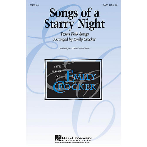 Hal Leonard Songs of a Starry Night SATB arranged by Emily Crocker
