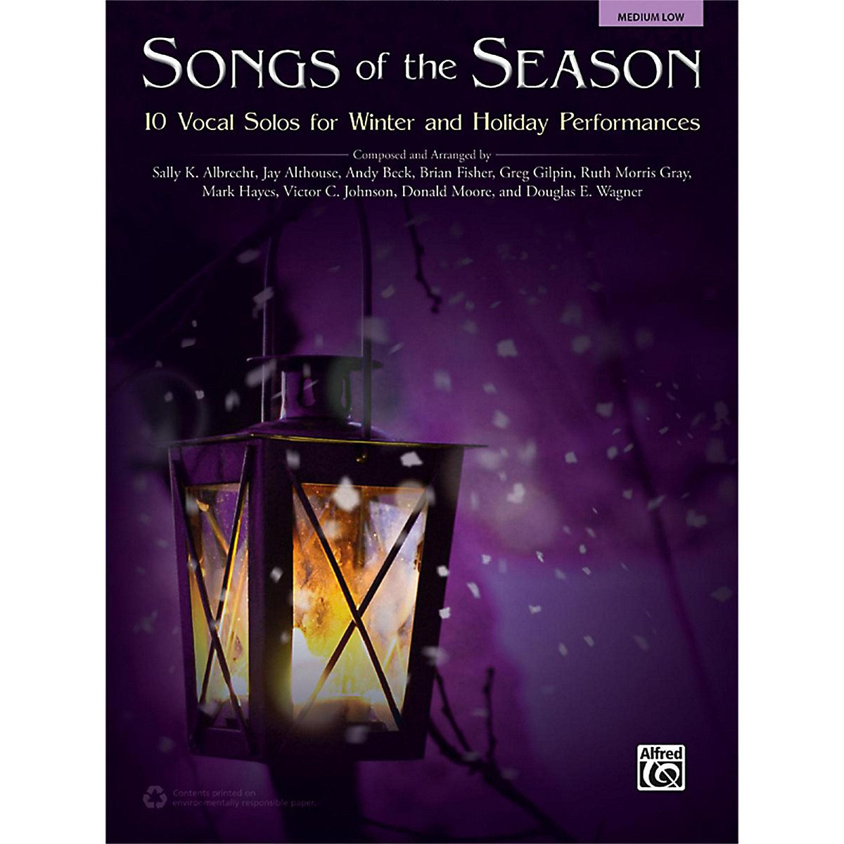 Alfred Songs of the Season Medium Low Book