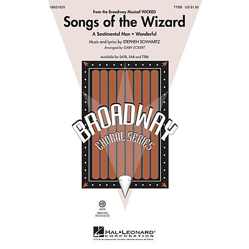 Hal Leonard Songs of the Wizard (from Wicked) TTBB arranged by Gary Eckert