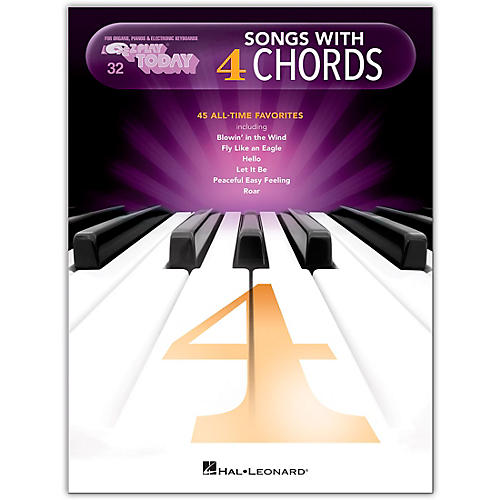Hal Leonard Songs With 4 Chords E Z Play Today Volume 32 Guitar Center
