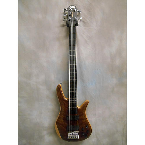 used zon sonus custom quilt flamed redwood top 5 string electric bass guitar guitar center. Black Bedroom Furniture Sets. Home Design Ideas