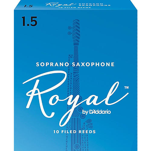 Rico Royal Soprano Saxophone Reeds, Box of 10